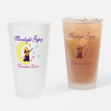 fowingdress12bordertransblue Drinking Glass