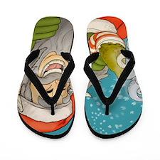 santa_notext Flip Flops