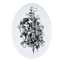 Letter I Oval Ornament
