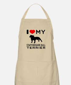 I love My Staffordshire Bull Terrier Apron
