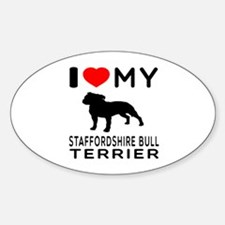 I love My Staffordshire Bull Terrier Decal