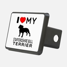 I love My Staffordshire Bull Terrier Hitch Cover