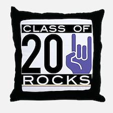 2011 purple/gold hand Throw Pillow