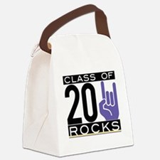 2011 purple/gold hand Canvas Lunch Bag