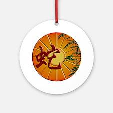 ZY Snake Clock Round Ornament