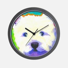 large westie cafepress  Wall Clock