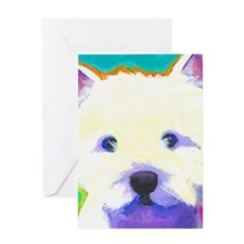 large westie cafepress  Greeting Card