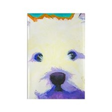 large westie cafepress  Rectangle Magnet