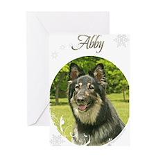 abby-stocking Greeting Card
