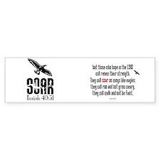 Isaiah 40:31 Soar Bumper Car Sticker