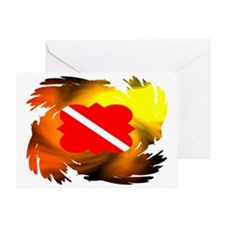 DIVE FLAG 24 Greeting Card