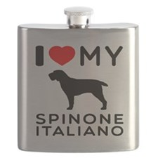 I love My Spinone Italiano Flask