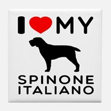 I love My Spinone Italiano Tile Coaster