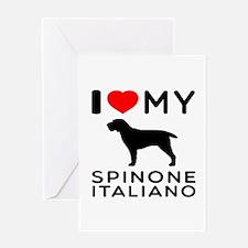 I love My Spinone Italiano Greeting Card