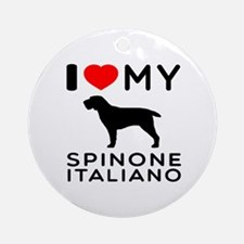 I love My Spinone Italiano Ornament (Round)