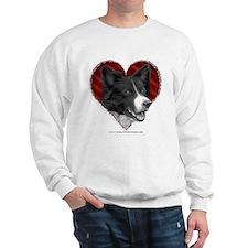 Border Collie Valentine Sweatshirt