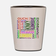 words Shot Glass