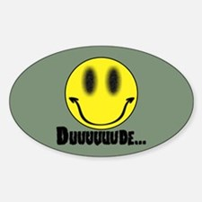 Duuuuuude Sticker (Oval)