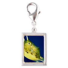 cowfish round ornament Silver Portrait Charm