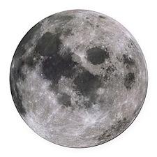 moon-200 Round Car Magnet