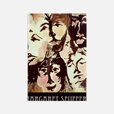 races faces small poster Rectangle Magnet