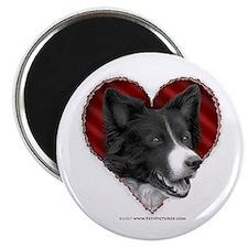 Border Collie Heart Magnet