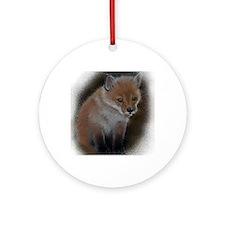 Fox cub 1 Round Ornament