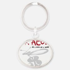 dracula Oval Keychain