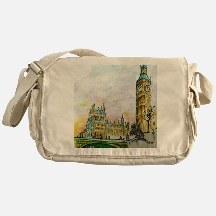 big ben small poster Messenger Bag
