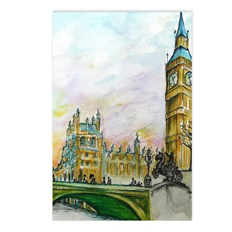 big ben small poster Postcards (Package of 8)