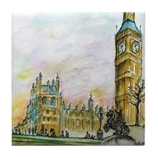 big ben small poster Tile Coaster
