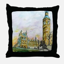 big ben small poster Throw Pillow