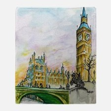 big ben small poster Throw Blanket