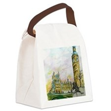 big ben small poster Canvas Lunch Bag