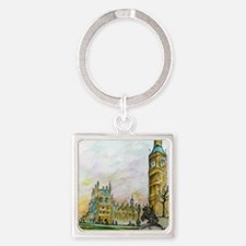 big ben small poster Square Keychain