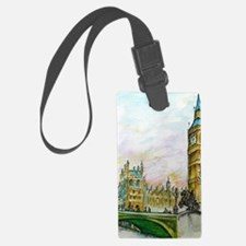 big ben small poster Luggage Tag