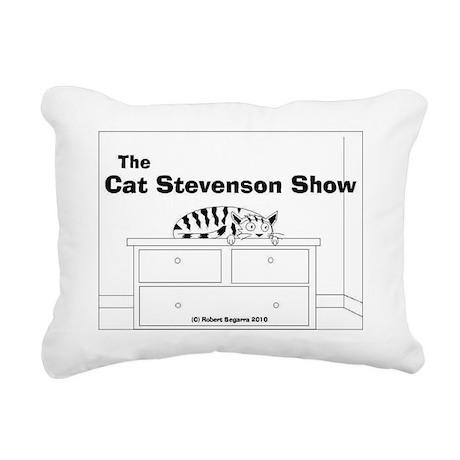 tshirt design cat steven Rectangular Canvas Pillow