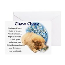 chow chow heritage puppy 3 Greeting Card