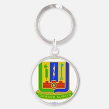 DUI-3RD BDE, SPECIAL TROOPS with te Round Keychain