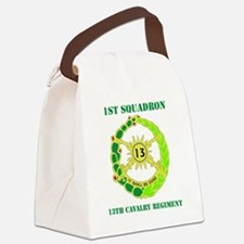 DUI-13TH CAVALRY RGT WITH TEXT Canvas Lunch Bag
