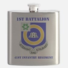 DUI-41ST INFANTRY REGIMENT WITH TEXT Flask