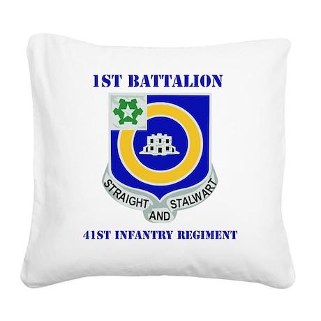 DUI-41ST INFANTRY REGIMENT WI Square Canvas Pillow