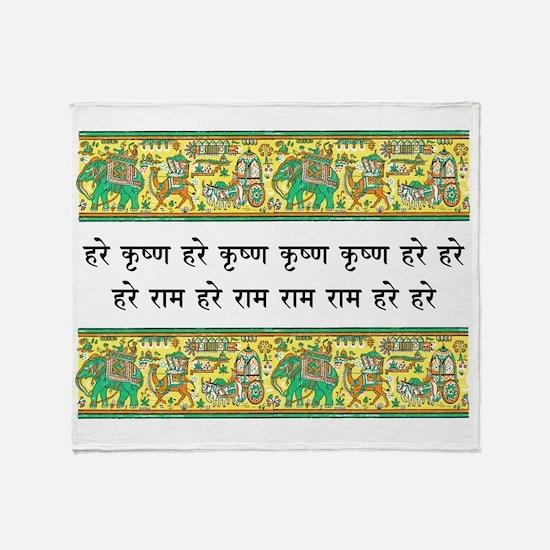 mantra_elephant_stamp Throw Blanket