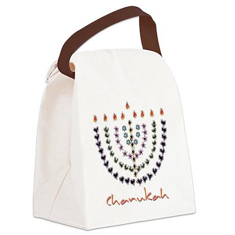 splash menorah 3 Canvas Lunch Bag