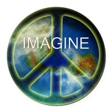 peace sightx2nfont copy Round Car Magnet