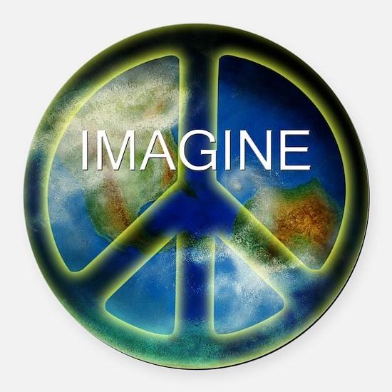 peace sightx2nfont copy Round Car Magnet