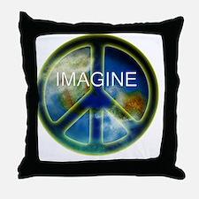 peace sightx2nfont copy Throw Pillow