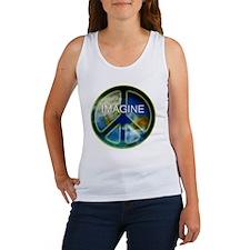 peace sightx2nfont copy Women's Tank Top