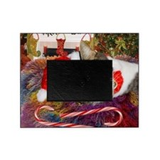 cat xmas room16x16 Picture Frame