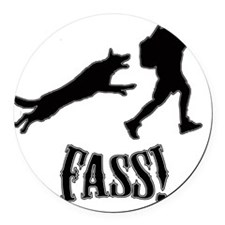 fass image Round Car Magnet